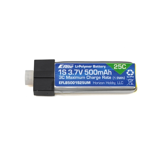 E-flite 1S 25C LiPo Battery Pack (3.7V/500mAh) Glimpse/180QX - 드론정보 & 쇼핑