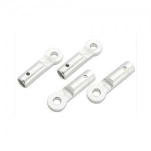 엑스캅터 - CNC AL Tail Boom Support End Set (Silver) - Blade 130X/200SRX/180CFX