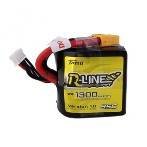 엑스캅터 - Tattu R-Line 1300mAh 95C 4S1P Square lipo battery pack