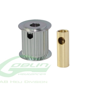 엑스캅터 - Aluminum Motor Pulley 24T (for 6/8mm motor shaft) - Goblin 770/Goblin 700 Competition [H0175-24-S]
