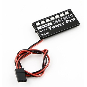 엑스캅터 - TowerPro 4.8-6.0V LED Receiver Voltage Monitor (Ni-MH, Ni-Cd)