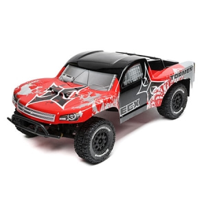 엑스캅터 - 1/10 2WD Torment SCT Brushed, LiPo: Red/Silver RTR